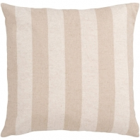 Surya Simple Stripe Beige Stripe Coastal Throw Pillow JS015