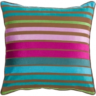 Surya Velvet Stripe Purple Stripe Mid-Century Throw Pillow JS019