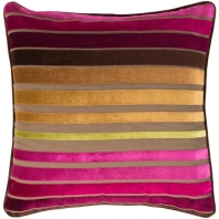 Surya Velvet Stripe Beige Stripe Mid-Century Throw Pillow JS020