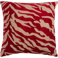 Surya Velvet Zebra Beige Animal Print Throw Pillow JS026