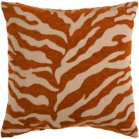 Surya Velvet Zebra Beige Animal Print Throw Pillow JS028