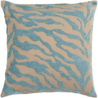Surya Velvet Zebra Beige Animal Print Throw Pillow JS030