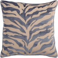 Surya Velvet Zebra Beige Animal Print Throw Pillow JS032