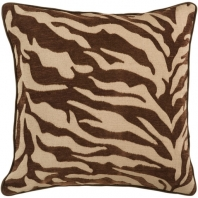 Surya Velvet Zebra Beige Animal Print Throw Pillow JS033