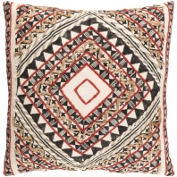 Surya Kazinga Red Scandinavian Throw Pillow KAZ001