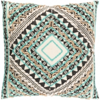 Surya Kazinga Blue Scandinavian Throw Pillow KAZ002