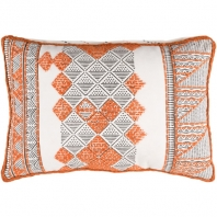 Surya Kerio Orange Scandinavian Throw Pillow KER001