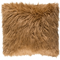 Surya Kharaa Beige Faux Fur Shag Throw Pillow KHR003