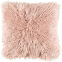 Surya Kharaa Pink Faux Fur Shag Throw Pillow KHR004