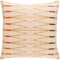 Surya Kikuyu Beige Scandinavian Throw Pillow KIK001