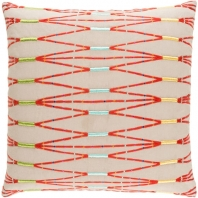 Surya Kikuyu Beige Scandinavian Throw Pillow KIK002