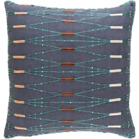 Surya Kikuyu Blue Scandinavian Throw Pillow KIK003
