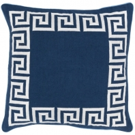 Surya Key Blue Geometric Mid-Century Throw Pillow KLD002