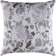 Surya Kalena Purple Floral Throw Pillow KLN003