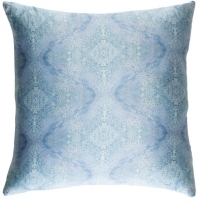 Surya Kalos Blue Abstract Mid-Century Throw Pillow KLS003