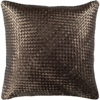 Surya Kenzie Brown Basquetweave Throw Pillow KNZ001