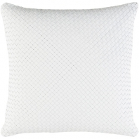 Surya Kenzie White Basquetweave Throw Pillow KNZ002