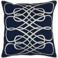 Surya Leah Blue Geometric Mid-Century Throw Pillow LAH001