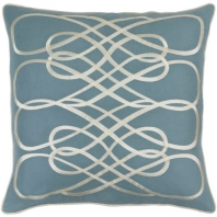 Surya Leah Blue Geometric Mid-Century Throw Pillow LAH002