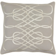 Surya Leah Gray Geometric Mid-Century Throw Pillow LAH003