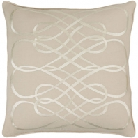 Surya Leah Beige Geometric Mid-Century Throw Pillow LAH004