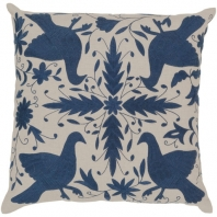 Surya Otomi Blue Nature Scandinavian Throw Pillow LD020