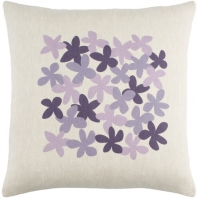 Surya Little Flower Beige Floral Scandinavian Throw Pillow LE004