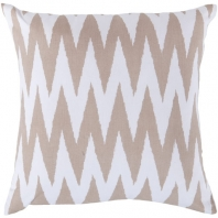 Surya Vibe White Geometric Scandinavian Throw Pillow LG527
