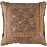 Surya Litavka Beige Flange Throw Pillow LIV001