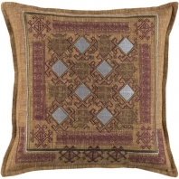 Surya Litavka Beige Flange Throw Pillow LIV002