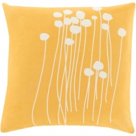 Surya Abo Yellow Floral Scandinavian Throw Pillow LJA004
