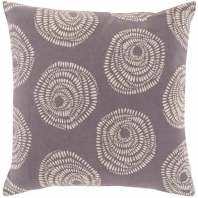 Surya Sylloda Black Circles Scandinavian Throw Pillow LJS001