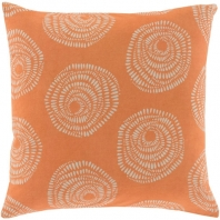 Surya Sylloda Pink Circles Scandinavian Throw Pillow LJS003