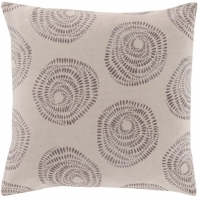 Surya Sylloda Gray Circles Scandinavian Throw Pillow LJS004