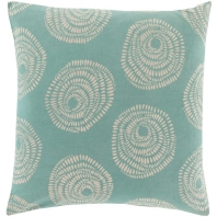 Surya Sylloda Green Circles Scandinavian Throw Pillow LJS005