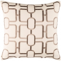 Surya Lockhart Beige Geometric Mid-Century Throw Pillow LKH001