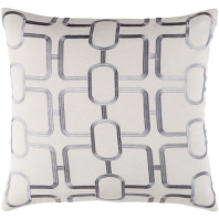 Surya Lockhart Gray Geometric Mid-Century Throw Pillow LKH002