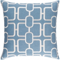 Surya Lockhart Blue Geometric Mid-Century Throw Pillow LKH003