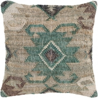 Surya Lenora Beige Tassel Scandinavian Throw Pillow LNR003
