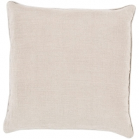 Surya Linen Piped White Throw Pillow LP008