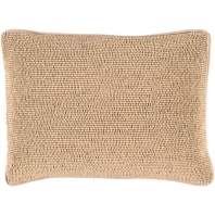 Surya Lark Beige Textural Throw Pillow LRK001