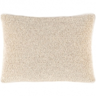 Surya Lark Beige Textural Throw Pillow LRK002
