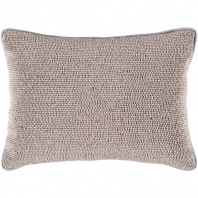 Surya Lark Gray Textural Throw Pillow LRK003