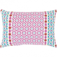 Surya Lucent Pink Scandinavian Throw Pillow LUE002