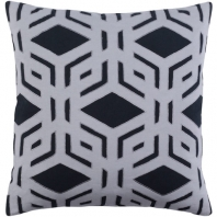 Surya Millbrook Black Geometric Mid-Century Throw Pillow MBK001