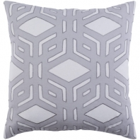 Surya Millbrook Gray Geometric Mid-Century Throw Pillow MBK002