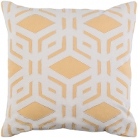 Surya Millbrook Yellow Geometric Mid-Century Throw Pillow MBK003