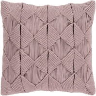 Surya Migramah Beige Knotted Textural Throw Pillow MGR002
