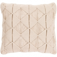 Surya Migramah Beige Knotted Textural Throw Pillow MGR003