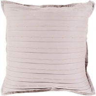 Surya Moonlight Beige Hems Flange Beaded Scandinavian Throw Pillow MO003